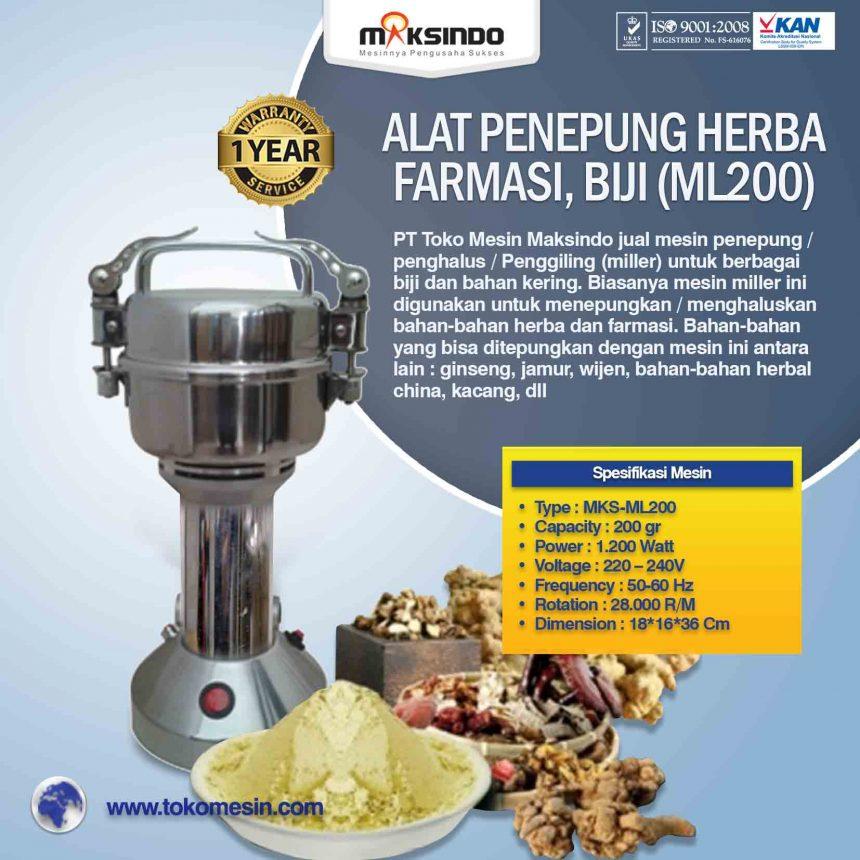Jual Penepung Herba, Farmasi, Biji (ML200) di Banjarmasin
