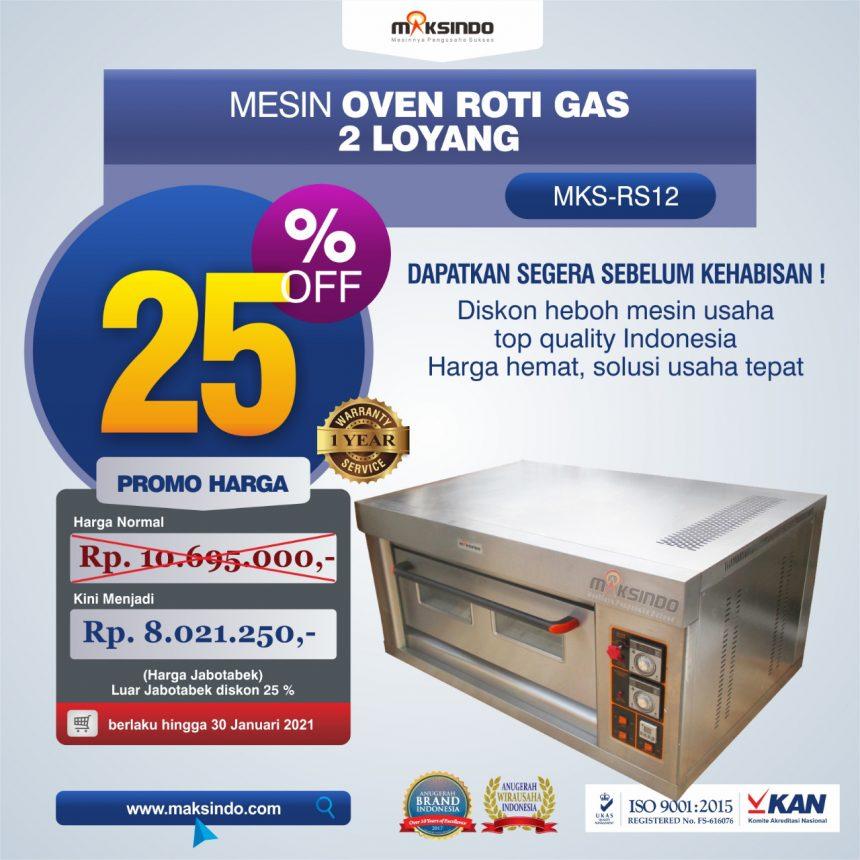 Jual Mesin Oven Roti Gas 2 Loyang (MKS-RS12) di Banjarmasin