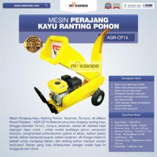 Jual Mesin Perajang Kayu dan Ranting Pohon – AGR-CP15 di Banjarmasin
